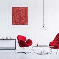 fauteuils colorés